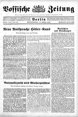 Vossische Zeitung vom 23.03.1933