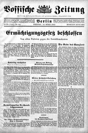 Vossische Zeitung vom 24.03.1933