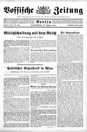 Vossische Zeitung vom 25.03.1933