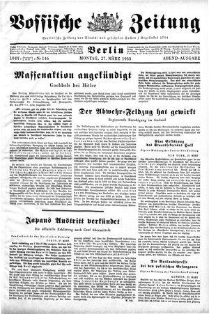 Vossische Zeitung vom 27.03.1933