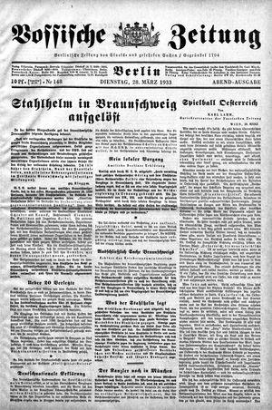 Vossische Zeitung vom 28.03.1933