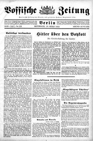 Vossische Zeitung vom 29.03.1933