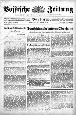 Vossische Zeitung vom 31.03.1933