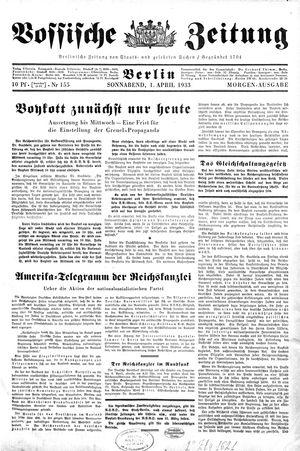 Vossische Zeitung vom 01.04.1933