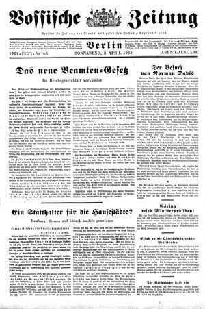 Vossische Zeitung vom 08.04.1933
