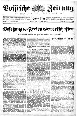 Vossische Zeitung vom 02.05.1933