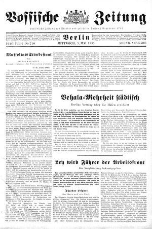 Vossische Zeitung vom 03.05.1933