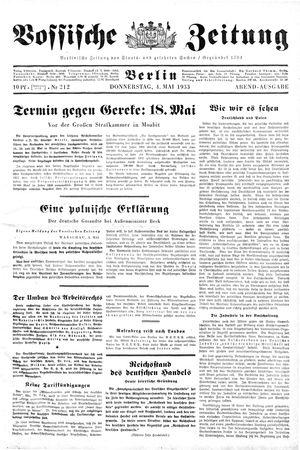Vossische Zeitung vom 04.05.1933