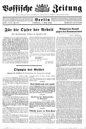 Vossische Zeitung vom 05.05.1933