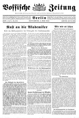 Vossische Zeitung vom 06.05.1933