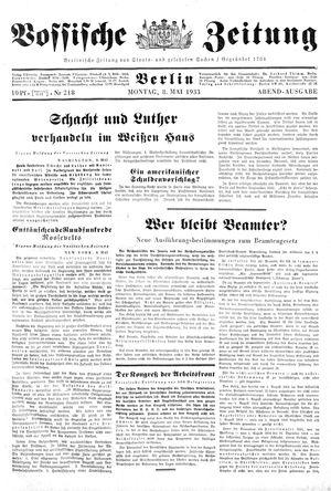 Vossische Zeitung vom 08.05.1933