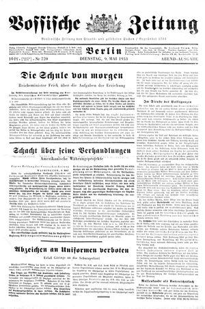 Vossische Zeitung on May 9, 1933