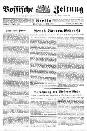 Vossische Zeitung vom 12.05.1933