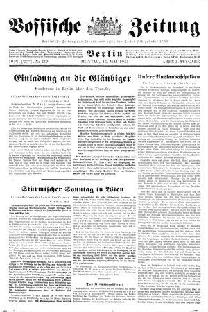 Vossische Zeitung vom 15.05.1933