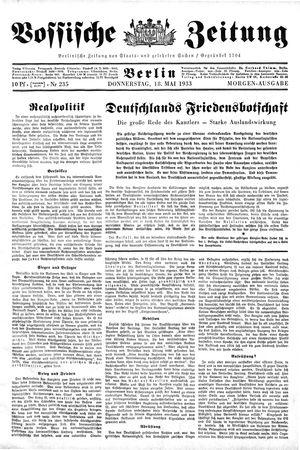 Vossische Zeitung vom 18.05.1933