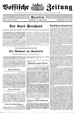 Vossische Zeitung vom 19.05.1933