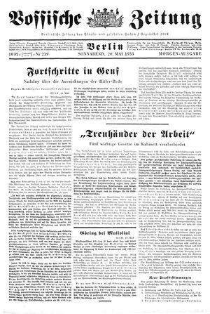 Vossische Zeitung vom 20.05.1933