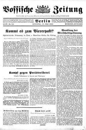 Vossische Zeitung vom 21.05.1933