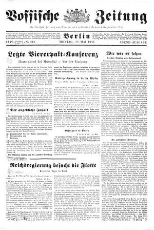 Vossische Zeitung vom 22.05.1933