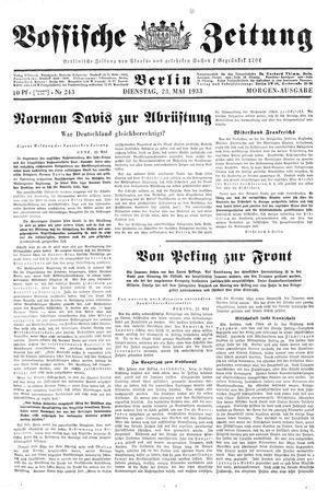Vossische Zeitung vom 23.05.1933