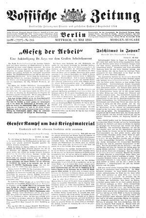 Vossische Zeitung vom 24.05.1933