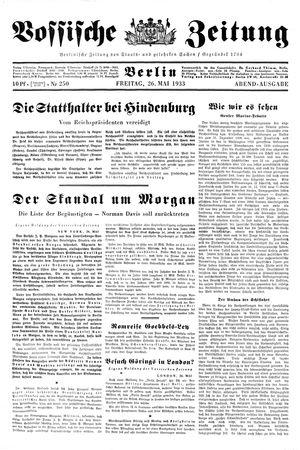 Vossische Zeitung vom 26.05.1933