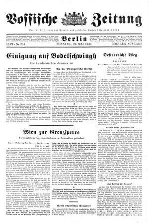 Vossische Zeitung vom 28.05.1933