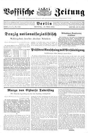 Vossische Zeitung vom 29.05.1933