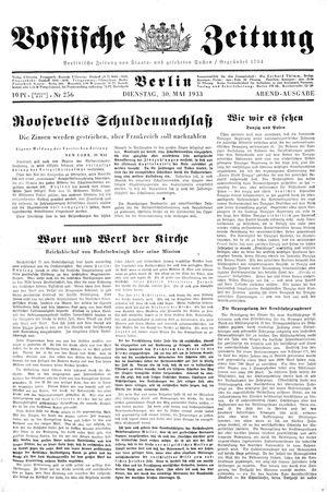 Vossische Zeitung vom 30.05.1933