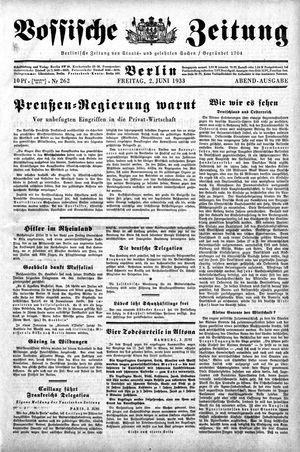 Vossische Zeitung vom 02.06.1933
