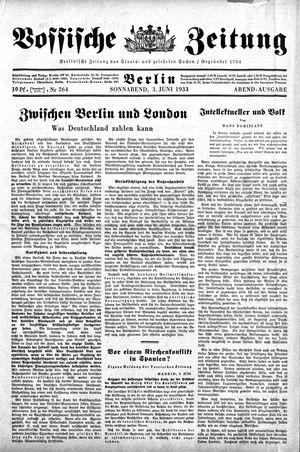 Vossische Zeitung vom 03.06.1933