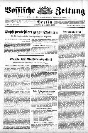 Vossische Zeitung vom 04.06.1933