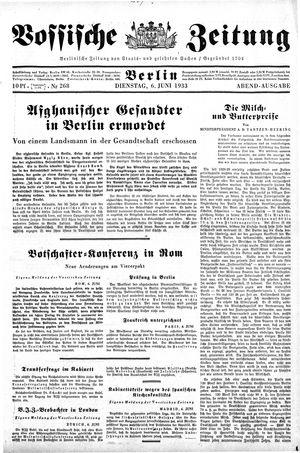 Vossische Zeitung vom 06.06.1933