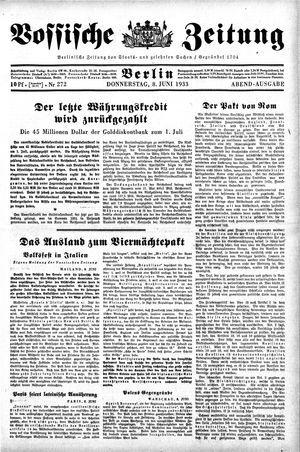 Vossische Zeitung vom 08.06.1933
