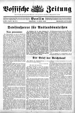 Vossische Zeitung vom 09.06.1933
