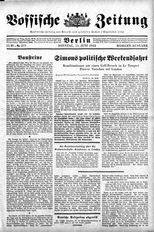 Vossische Zeitung vom 11.06.1933