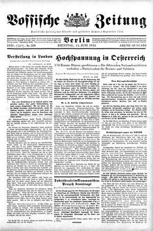 Vossische Zeitung vom 13.06.1933