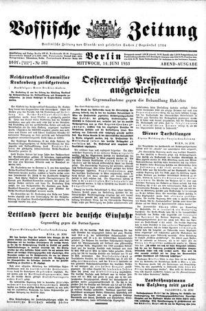 Vossische Zeitung vom 14.06.1933