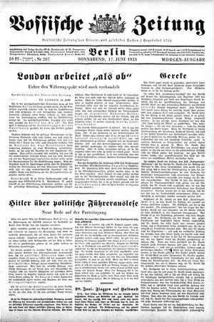 Vossische Zeitung vom 17.06.1933