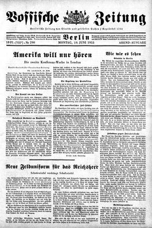 Vossische Zeitung vom 19.06.1933