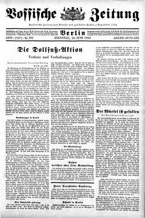 Vossische Zeitung vom 20.06.1933