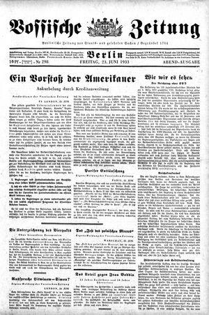 Vossische Zeitung vom 23.06.1933