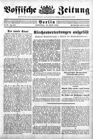 Vossische Zeitung vom 25.06.1933