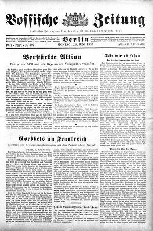 Vossische Zeitung on Jun 26, 1933