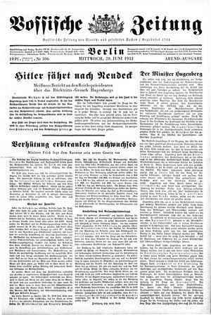 Vossische Zeitung vom 28.06.1933