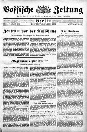 Vossische Zeitung vom 29.06.1933