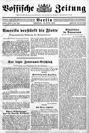 Vossische Zeitung vom 30.06.1933