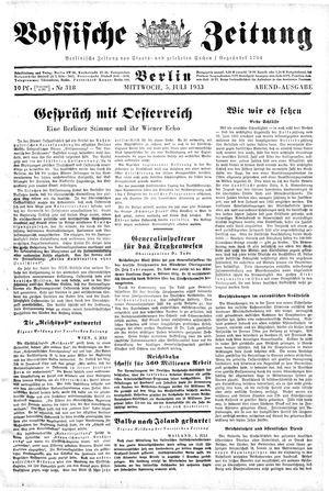 Vossische Zeitung vom 05.07.1933