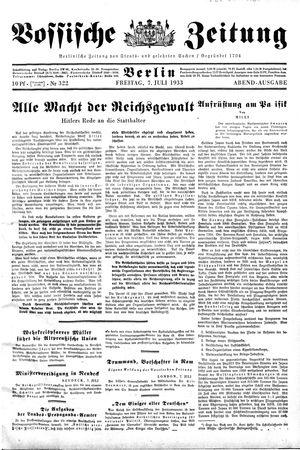 Vossische Zeitung vom 07.07.1933