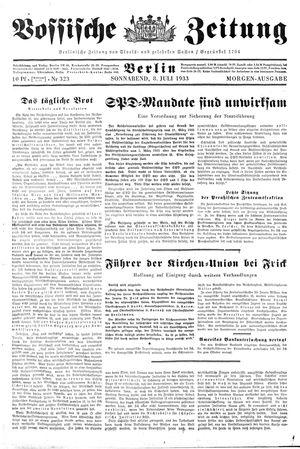 Vossische Zeitung vom 08.07.1933